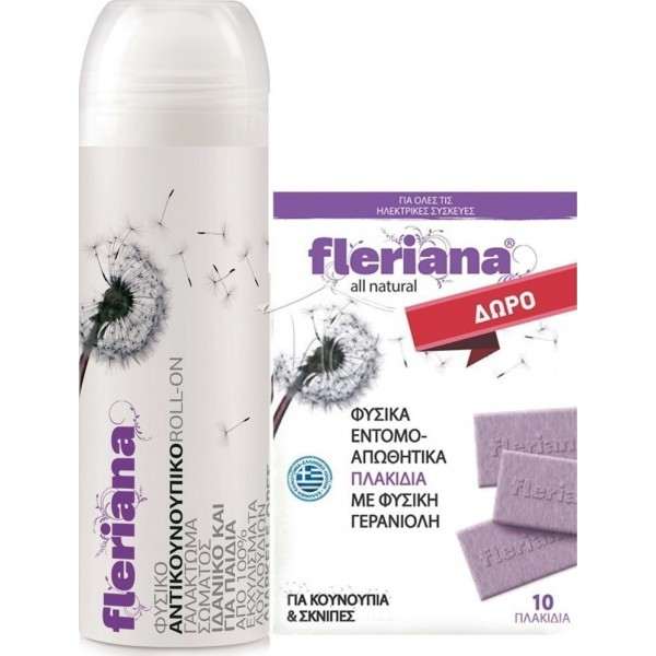 Fleriana Roll On 100ml + Fleriana Πλακίδια 10τμχ