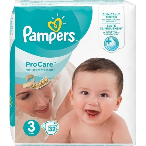 Pampers Pro Care Premium Protection No3 (5-9kg) 32τμχ