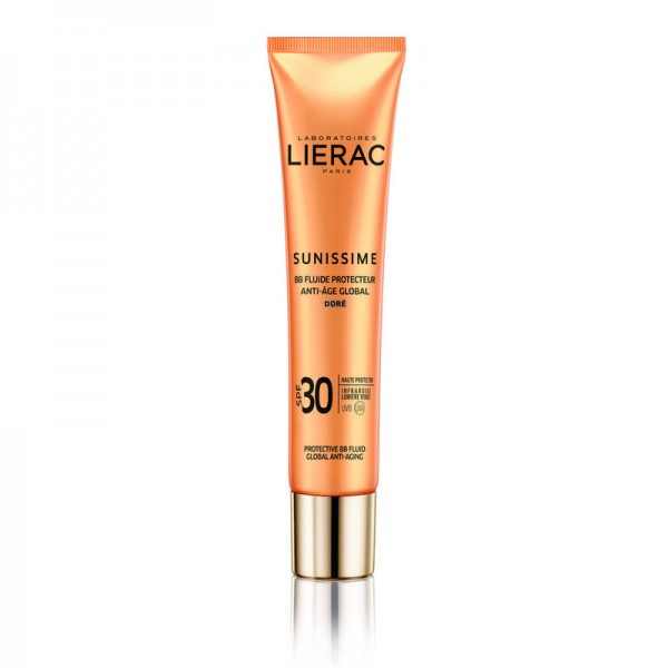 Lierac Sunissime BB Fluide Protecteur Anti-age Global SPF30 Golden (Dore) Face & Decolette Sun Cream Teint 40ML