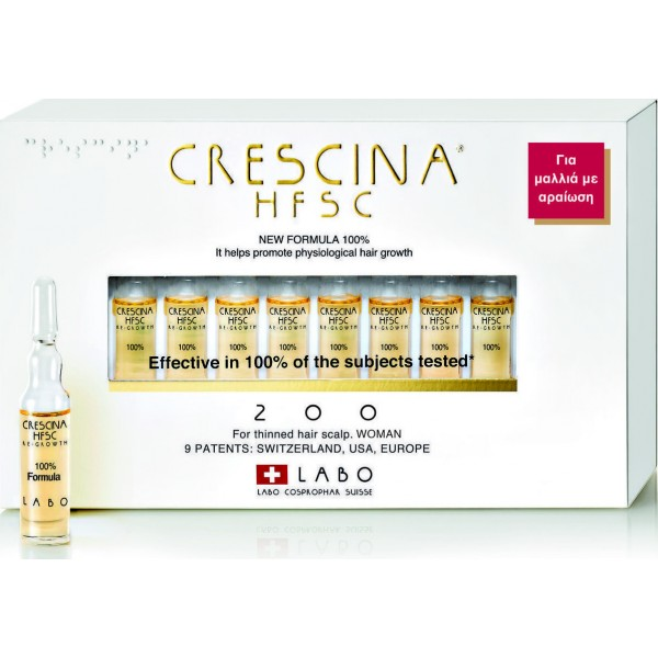 Labo Crescina HFSC 100% 200 Woman 20 αμπούλες