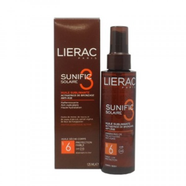 LIERAC SUNIFIC 3 SPRAY HUILE SUBLIMANTE SPF6 125ML