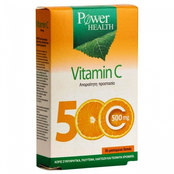 Power Health Vitamin C 500mg Chewable Tabs 36
